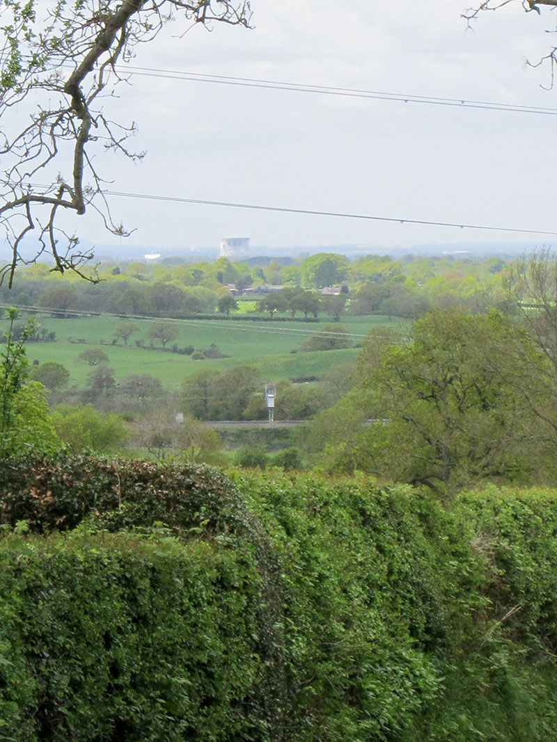 Jodrell Bank from Cowbrook Lane